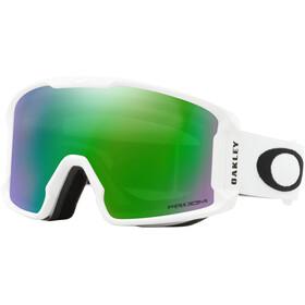 Oakley Line Miner XM Lunettes de ski Femme, matte white/prizm snow jade iridium